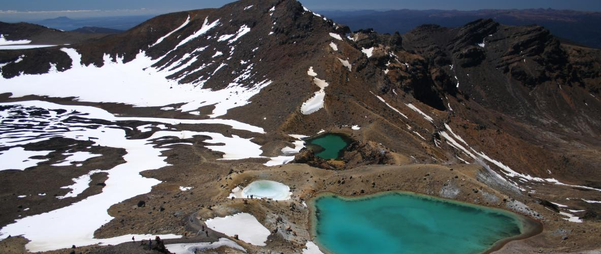 Tongariro Alpine Crossing - Quoted from the Lonely Planet Guide as being one of the best one day walks in the world! Just 40mins from the start with door to door shuttles available from here...