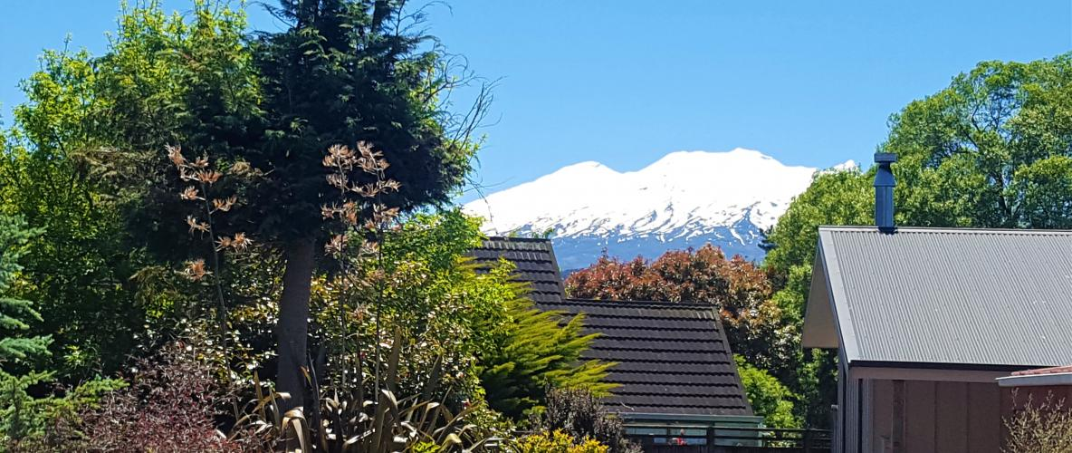 Mountain Majesty  - Relax in front of Mt Ruapehu and enjoy the view or get out there and explore, its all on the door step...